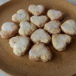 Szív alakú citromos kókuszos keksz