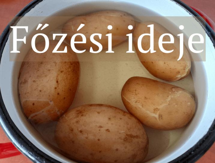 Héjában főtt krumpli főzési ideje